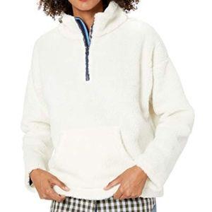 J.Crew Sherpa Fleece Quarter Zip Pullover